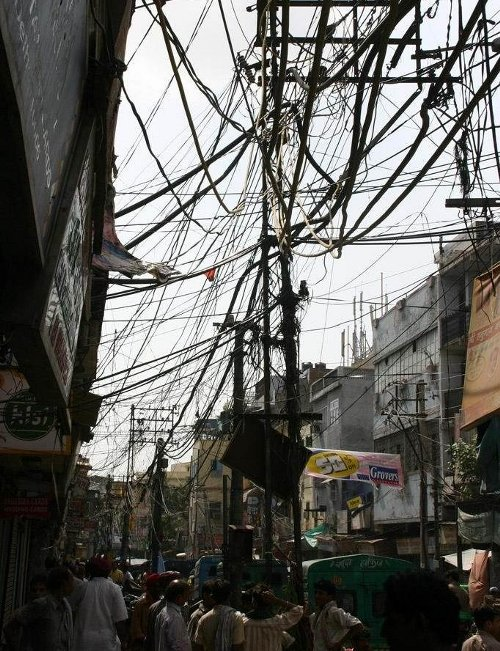 crazy wiring mess india